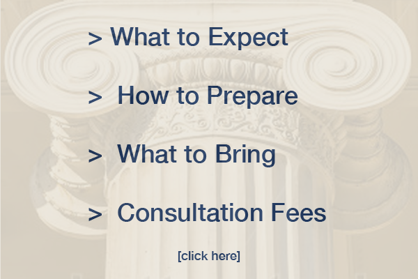 Consultation and Legal Advice – Your First Appointment