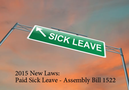 Paid Sick Leave Law- 2015